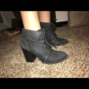 Shoes - Black lace up booties
